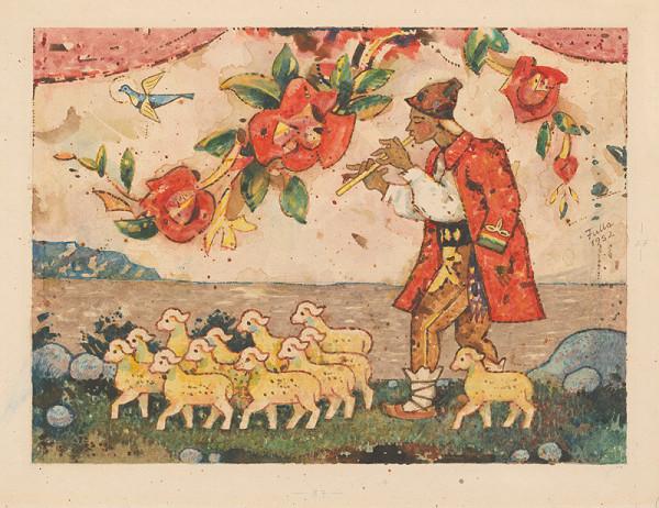 Ľudovít Fulla - Pastier s ovečkami