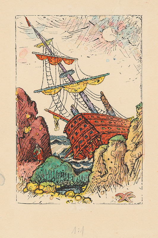 Ľudovít Fulla - Stroskotaný koráb