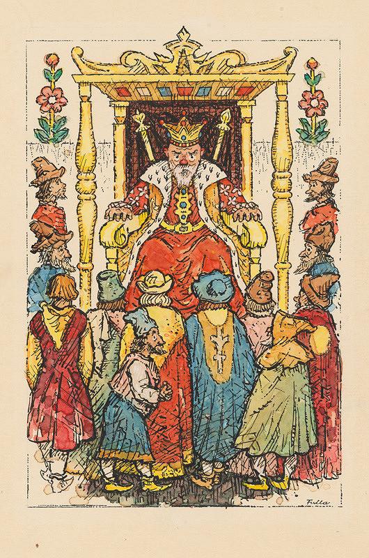 Ľudovít Fulla - Kráľ a poradcovia