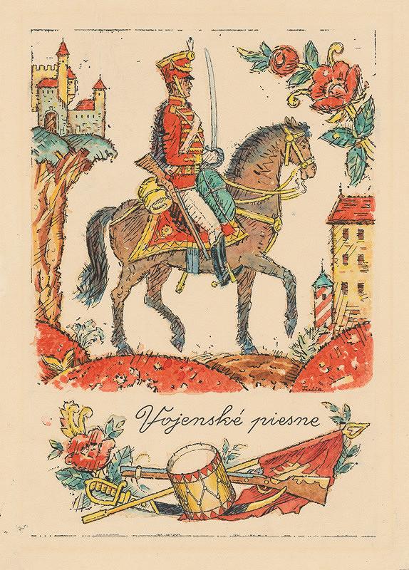 Ľudovít Fulla - Titulný list Vojenská ľudová poézia