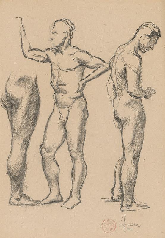 Ľudovít Fulla - Štúdie mužského aktu