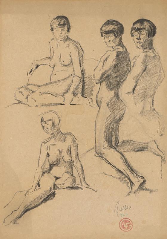 Ľudovít Fulla - Štyri štúdie ženského aktu