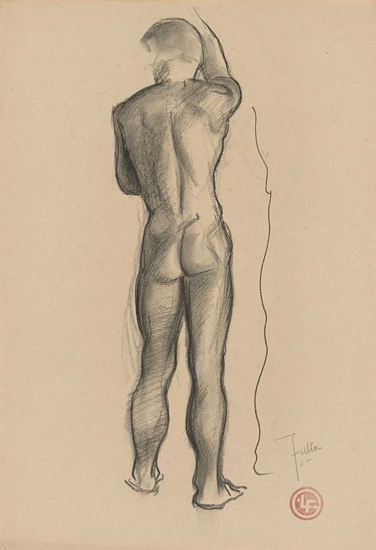 Ľudovít Fulla - Štúdia mužského aktu - od chrbta