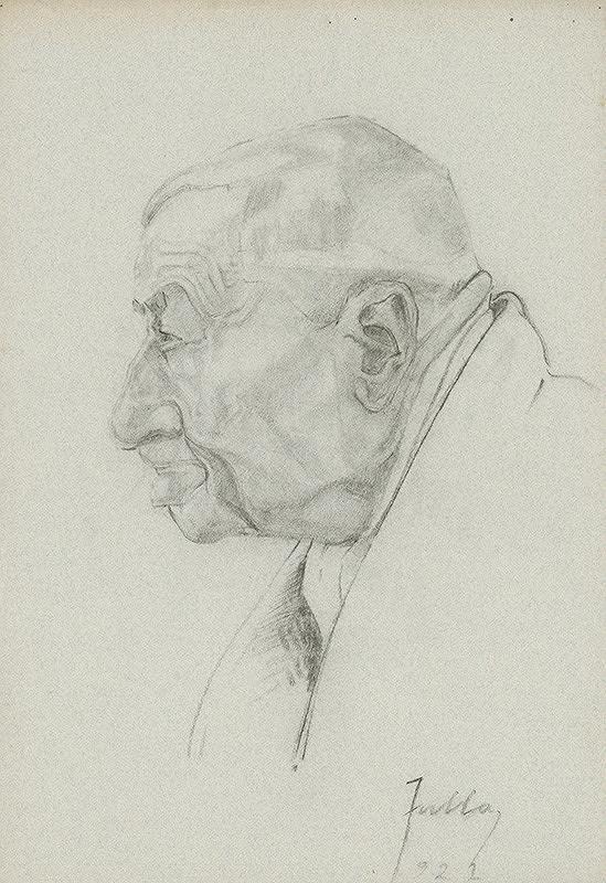 Ľudovít Fulla - Štúdia hlavy starca - profil