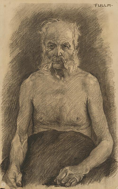 Ľudovít Fulla - Štúdia poloaktu staršieho muža