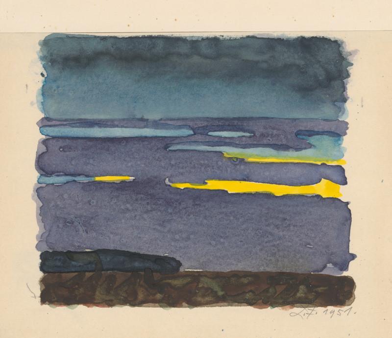 Ľudovít Fulla – Večerné oblaky, 1951, Slovenská národná galéria