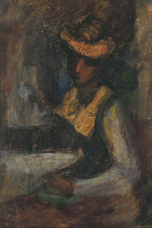 Janko Alexy – Žena so žltým klobúkom