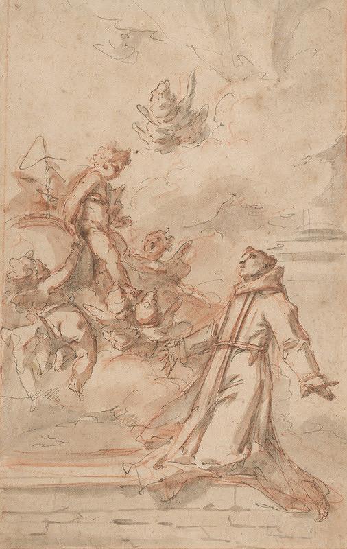 Taliansky majster zo 16. storočia - Videnie sv.Antona