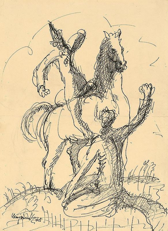 Cyprián Majerník – Dvaja clowni s koňom