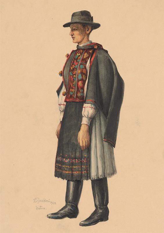 Ladislav Treskoň – Štúdia muža z Detvy
