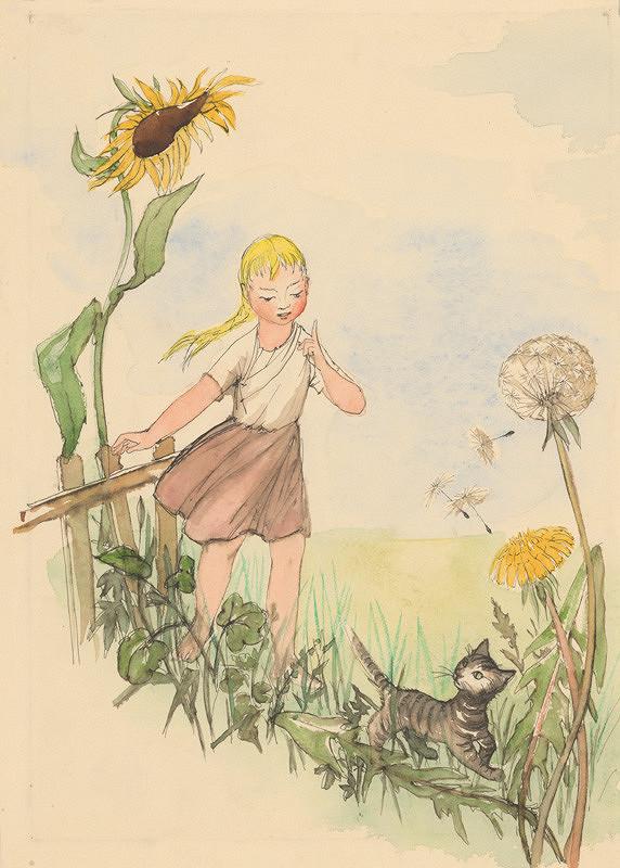 Mária Želibská – Dievčatko a kocúrik