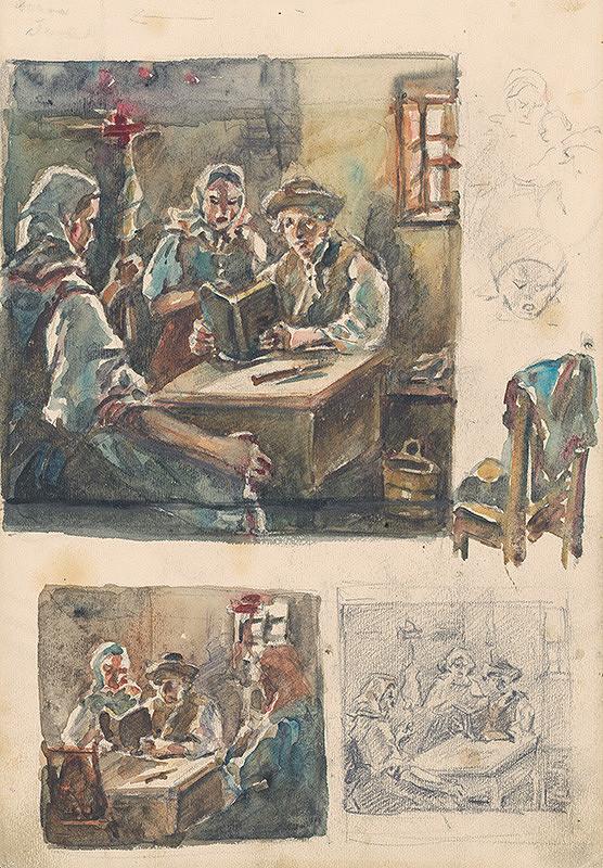 Jaroslav Augusta – Tri štúdie dedinského interiéru