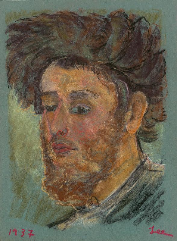 Lea Mrázová - Portrét muža s bradou