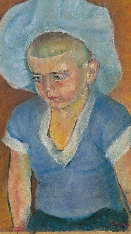 Lea Mrázová – Chlapec v modrej baretke