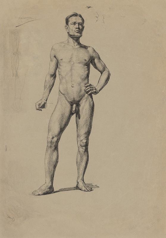 Ján Fadrusz - Štúdia mužského aktu