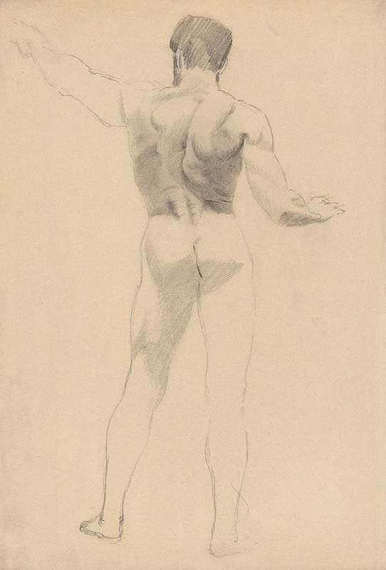 Ján Fadrusz - Mužský akt zozadu