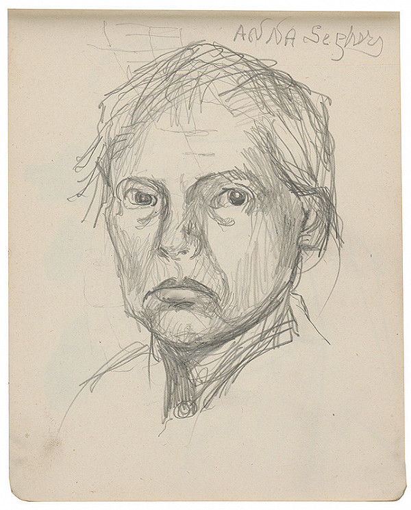 Margita Czóbelová - Náčrt ženského portrétu