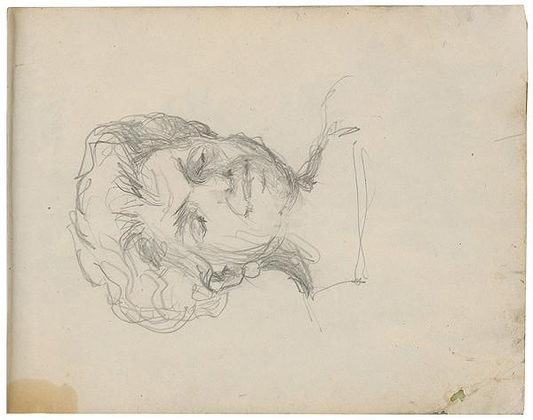 Margita Czóbelová - Náčrt portrétu staršej ženy