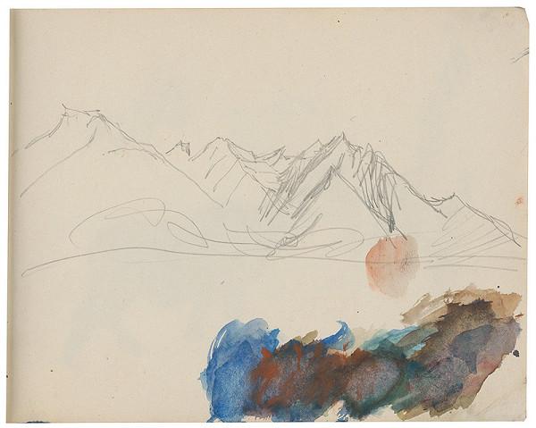 Margita Czóbelová - Náčrt horskej krajiny