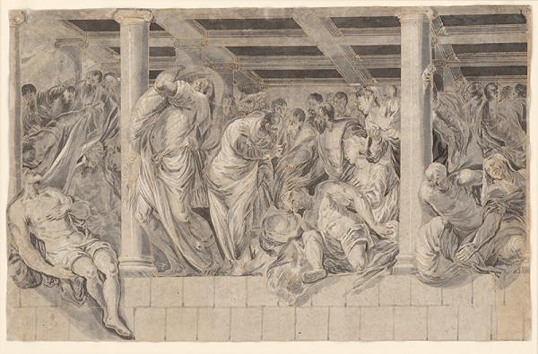 Jacopo Tintoretto, Taliansky majster z 18. storočia – Uzdravenie chromého pri rybníku Betsata