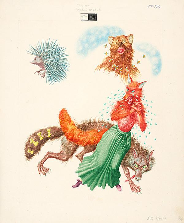 Albín Brunovský - Koza rohatá a jež