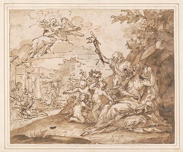 Taliansky maliar z polovice 17. storočia – Alegorický výjav (Hold Venuši)