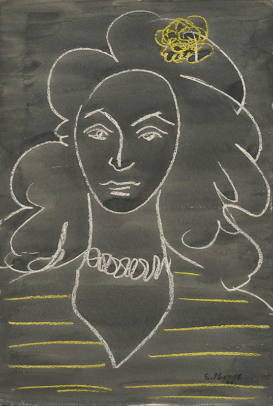 Eugen Nevan - Portrét ženy