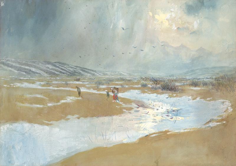 Ladislav Mednyánszky – Spišská krajina v zime, 1879, Slovenská národná galéria, voľné dielo