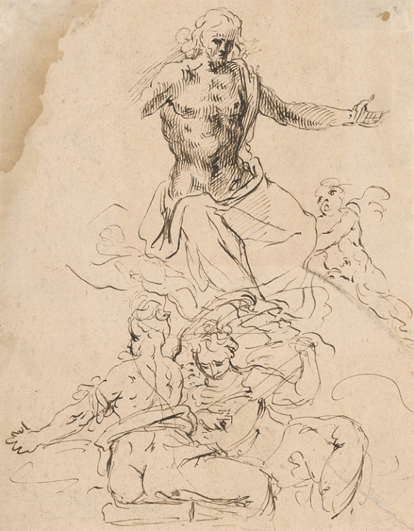 Taliansky maliar zo 17. storočia - Nanebevstúpenie