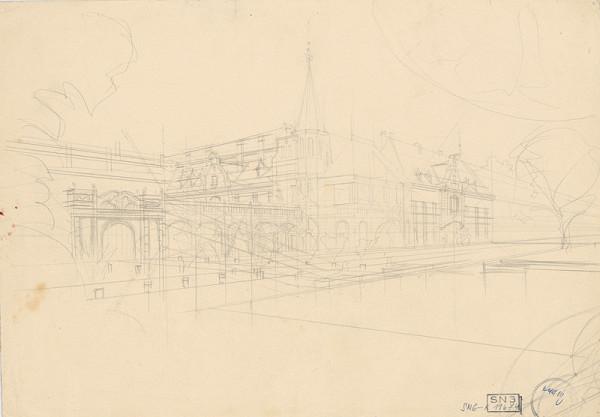 Ladislav Mednyánszky - Figurálne štúdie 488 - krajinárska štúdia