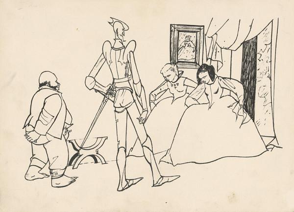Vincent Hložník - Don Quijote prijíma poklony od dám