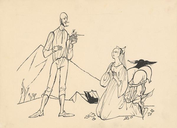 Vincent Hložník – Rytier Don Quijote prijíma vďaku od dámy