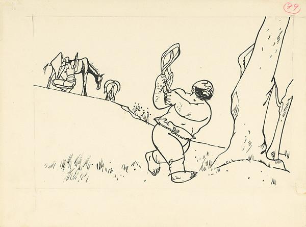 Vincent Hložník – Zastávka v putovaní.Sancho Panza preukazuje cenné služby.