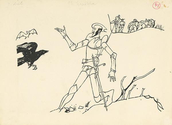 Vincent Hložník - Priatelia vyťahujú Don Quijota z jamy