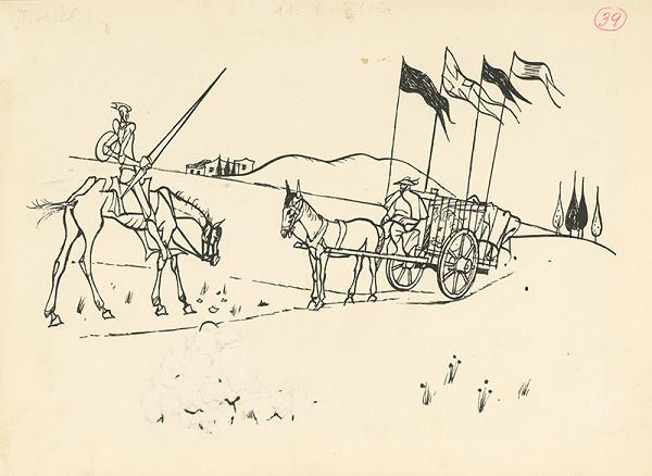 Vincent Hložník – Stretnutie Dona Quijota s krotiteľom leva