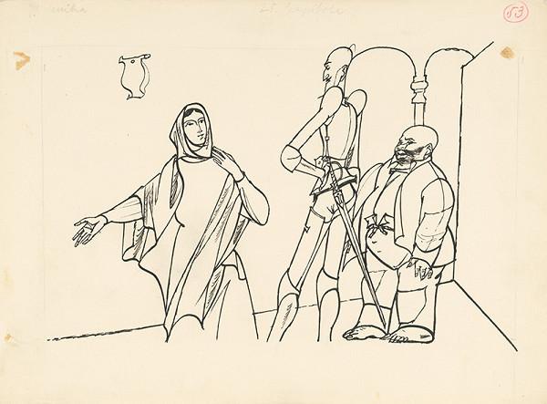 Vincent Hložník - Don Quijote a jeho sluha u prísnej ženy
