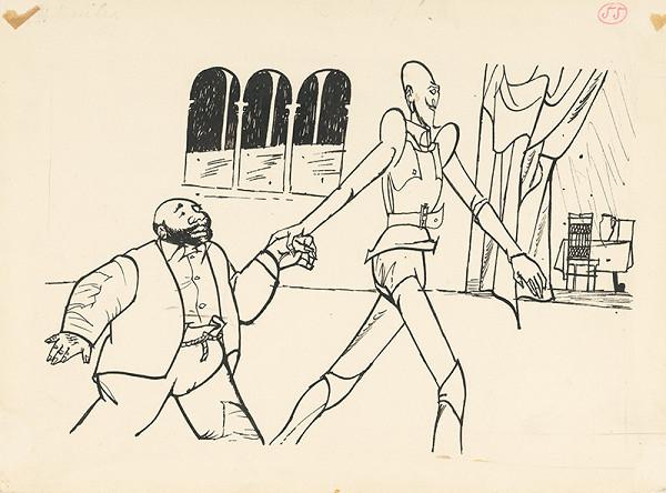 Vincent Hložník – Don Quijote a jeho sluha v paláci