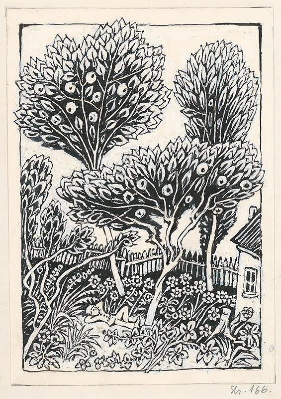 Ján Trojan – V záhrade