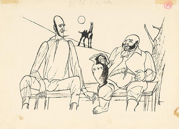 Vincent Hložník – Odpočinok Dona Quijota a Sancha Panzu