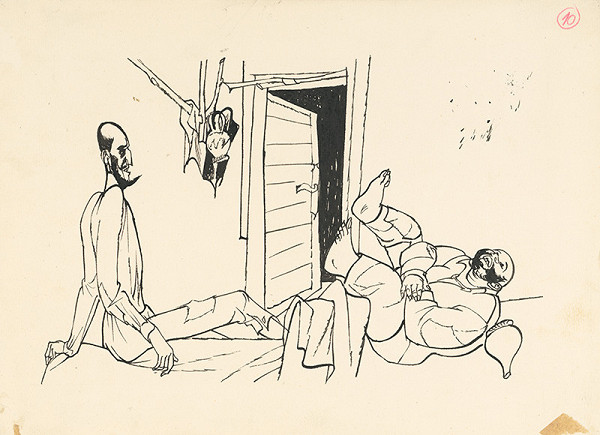 Vincent Hložník - Prebudenie Dona Quijota a Sancha Panzu