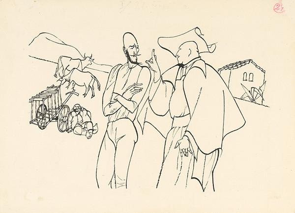 Vincent Hložník - Don Quijote sa zhovára s prelátom