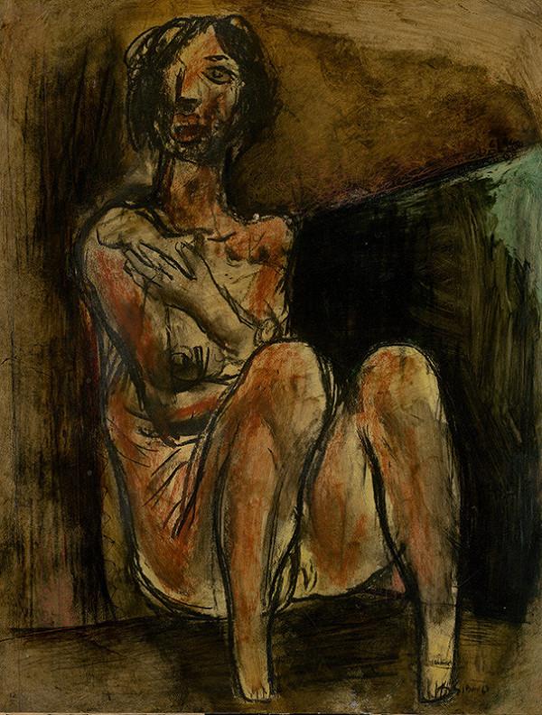 Koloman Sokol – Sediaca žena
