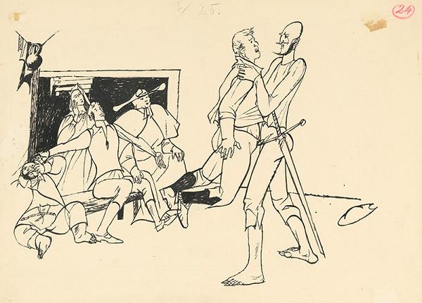 Vincent Hložník - Don Quijote zápasí s mladíkom