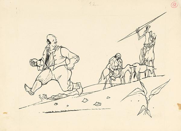 Vincent Hložník - Don Quijote zaháňa dedinčana