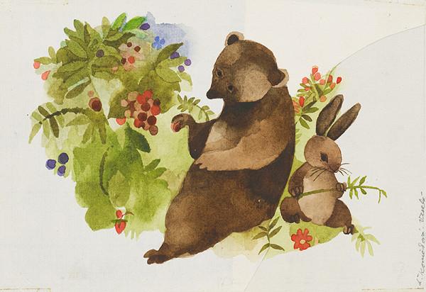 Ľuba Končeková-Veselá - Medveď a zajac
