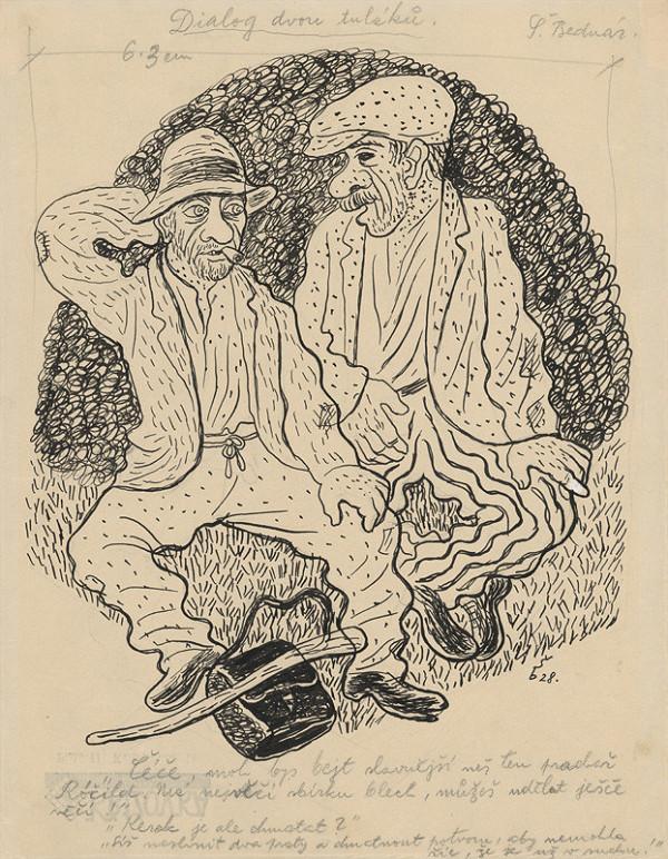 Štefan Bednár - Dialóg dvoch tulákov. 1928