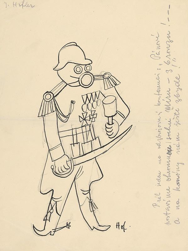 Štefan Bednár - Karikatúra generála