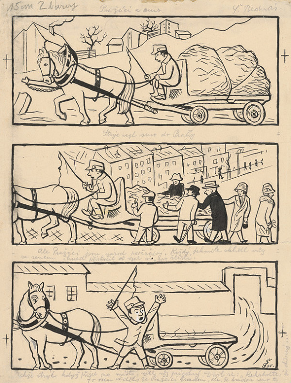 Štefan Bednár - Pražáci a zrno - 1928, seriál