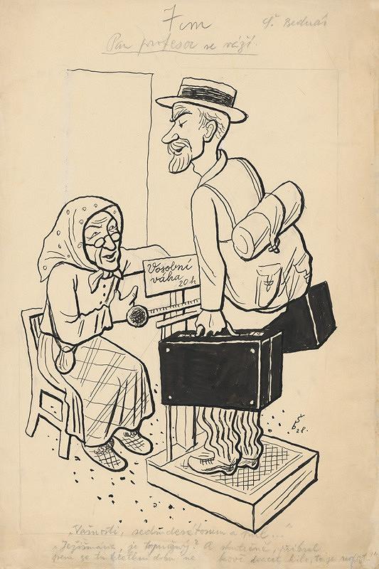 Štefan Bednár - Pán profesor sa váži - 1928