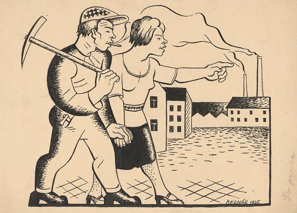 Štefan Bednár - Do práce - 1925